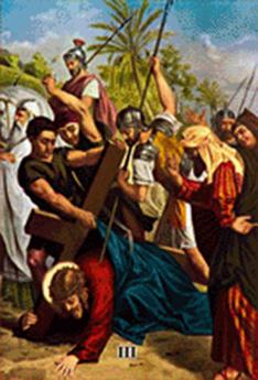Imagen ilustrativa de la tercera estación del vía crucis