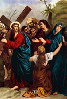 Imagen ilustrativa de la cuarta estación del vía crucis