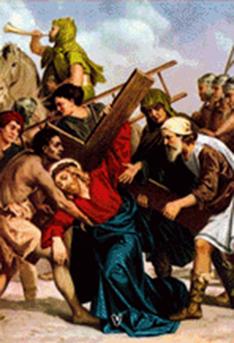imagen ilustrativa de la quinta estación del vía crucis