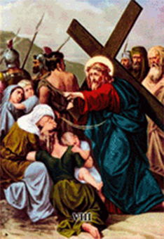 Imagen ilustrativa de la octava estación del vía crucis