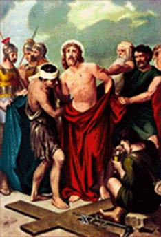 Imagen ilustrativa de la décima estación del vía crucis