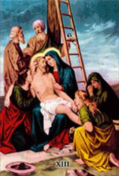 Imagen ilustrativa de la decimotercera estación del vía crucis