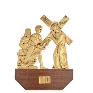 Vía crucis de latón