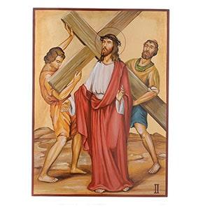 Vía crucis pintado
